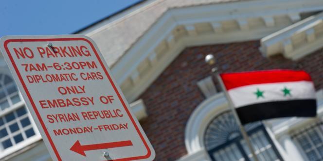 L'ambassade de la Syrie à Washington.