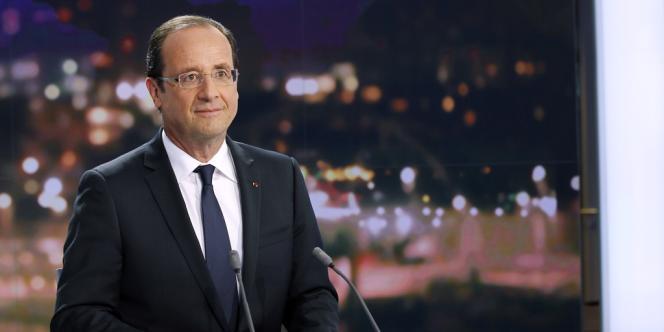 François Hollande, mardi 29 mai, sur le plateau du