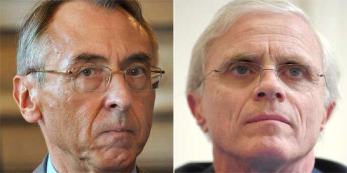 Photos d'archives respectivement prises le 30 septembre 2011 et le 25 mars 2009 de Claude Baland, à gauche, et de Bernard Boucault à droite.