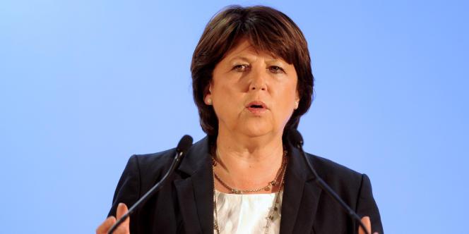 Martine Aubry, le 31 mai 2012, à Courrieres.