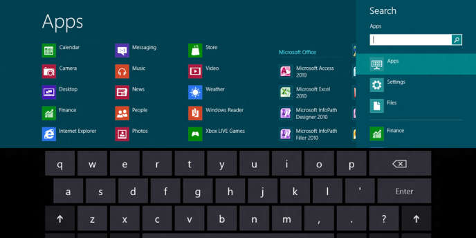L'interface de Windows 8.