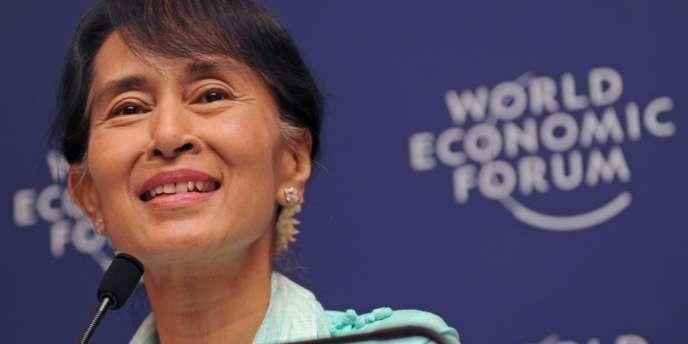 Aung San Suu Kyi à Bangkok, le 1er juin 2012.