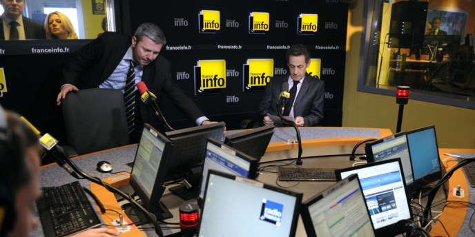 Nicolas Sarkozy est l'invité de l'émission de France Info
