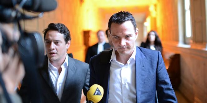 Arrivée de Jérôme Kerviel à la cour d'appel du Tribunal de Paris, le 4 juin.