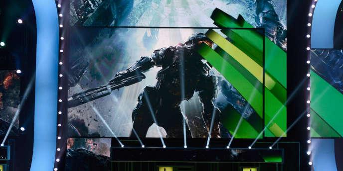 Présentation de la bande-annonce de Halo 4 lors de la conférence Microsoft à l'E3, à Los Angeles.