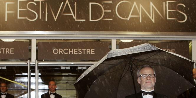 Le délégué général du Festival de Cannes, Thierry Frémaux, lors du 65e Festival de Cannes, le 20 mai 2012.