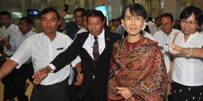 Aung San Suu Kyi à Rangoun, le 3 juin.
