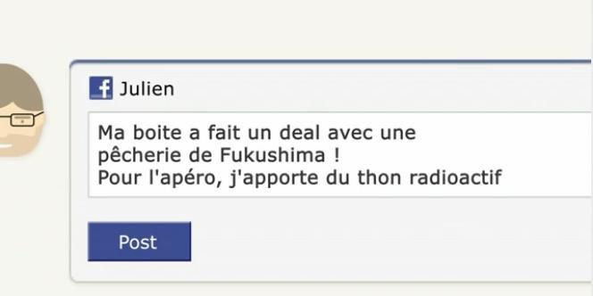 Message (fictif) de Julien, salarié de la Thompanie, publié sur Facebook