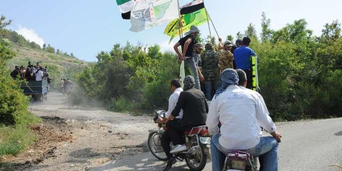 Des combattants de l'Armée syrienne libre dans les environs de Chilif, courant mai.