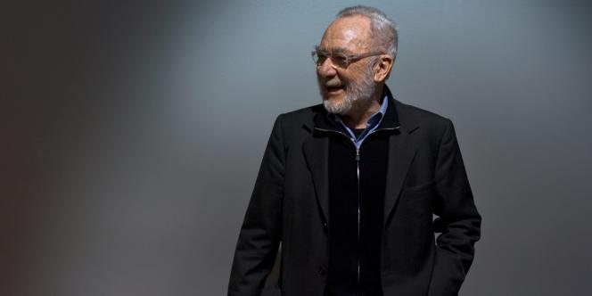 L'artiste allemand Gerhard Richter lors de l'inauguration de son exposition
