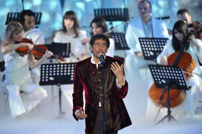Laurent Voulzy lors des 27es Victoires de la musique à Paris, le 3 mars 2012.