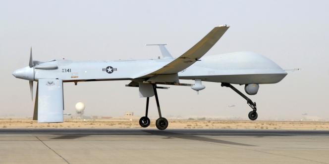 Un drone MQ-1B Predator, sur une base irakienne, le 12 juin 2008.