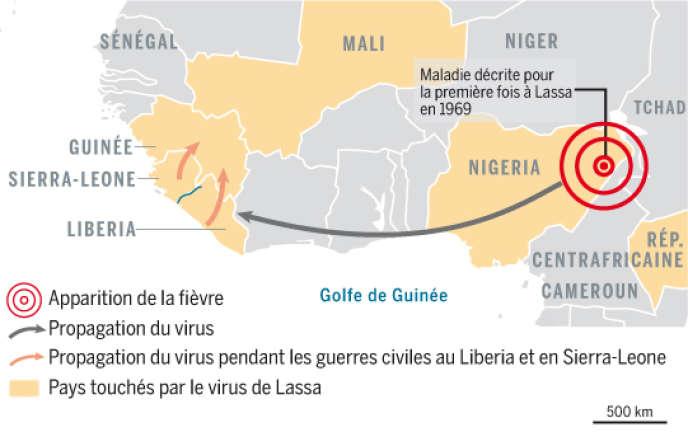 Pays touchés par le virus de Lassa.