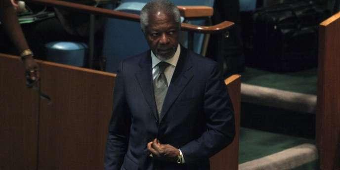 Kofi Annan, l'émissaire spécial de l'ONU et de la Ligue arabe pour la Syrie.