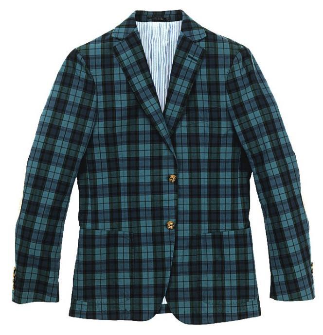 La veste à carreaux. En coton et cachemire,  719 euros. Gant.