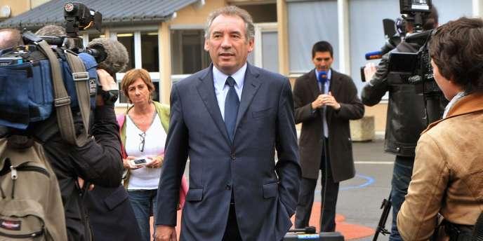 François Bayrou, le leader du Modem, dimanche 10 juin, à Pau.