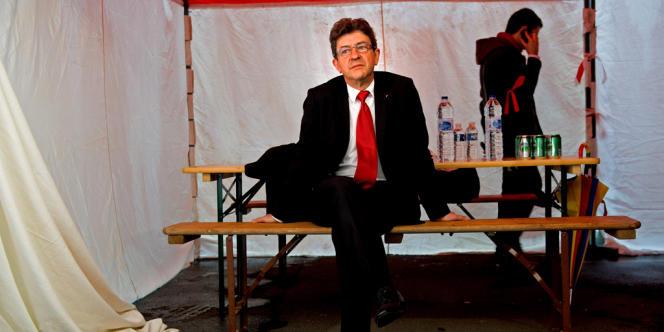 Jean-Luc Mélenchon au premier tour des législatives dans la 11e circonscription du Pas-de-Calais.
