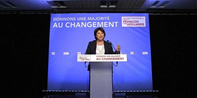 Martine Aubry, première secrétaire du PS, dimanche soir 10 juin, après l'annonce des résultats du premier tour des élections législatives.