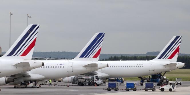 Des avions d'Air France à l'aéroport de Roissy.