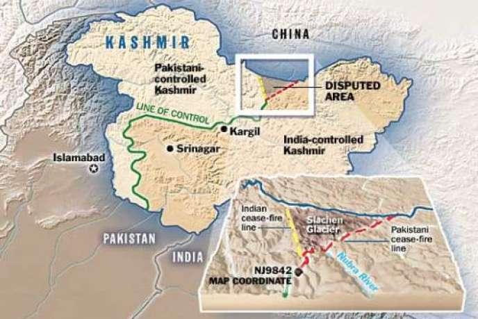 Ce conflit est un héritage du tracé inachevé de la ligne de cessez-le-feu définie après la première guerre indo-pakistanaise en 1949. Cette ligne s'arrête, encore aujourd'hui, au pied du glacier, au point NJ9842, créant de fait un