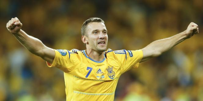 Andrei Chevtchenko, décisif contre la Suède, le 11 juin à Kiev.