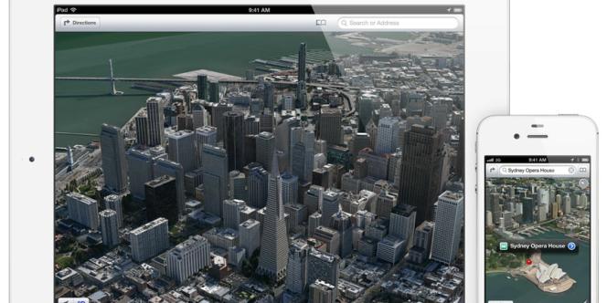 Les plans en trois dimensions de l'application de cartographie d'Apple