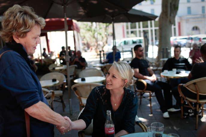 Marion Maréchal-Le Pen, à Carpentras (Vaucluse) le 14 juin 2012.