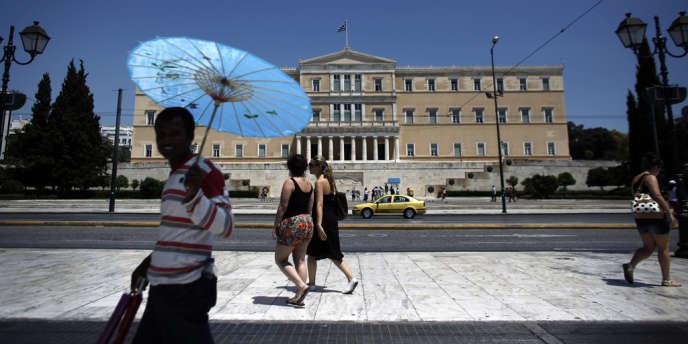 Devant le Parlement grec, le 13 juin.