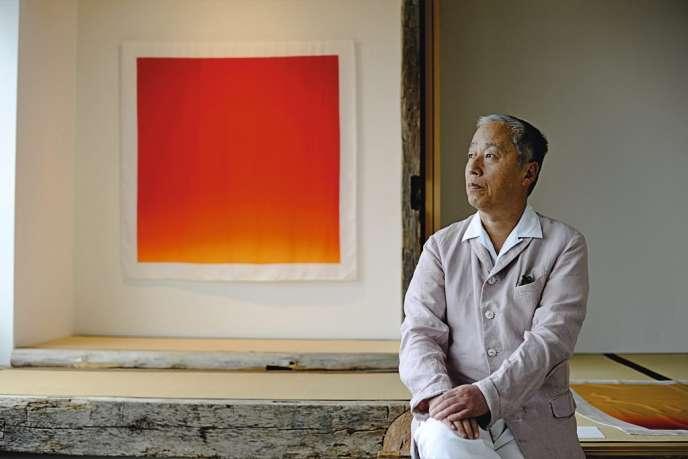 En captant - sur Polaroid - les rayons du soleil,  Hiroshi Sugimoto a créé de somptueux dégradés.