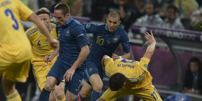 Karim Benzema et Franck Ribéry, Donetsk le 15 juin.