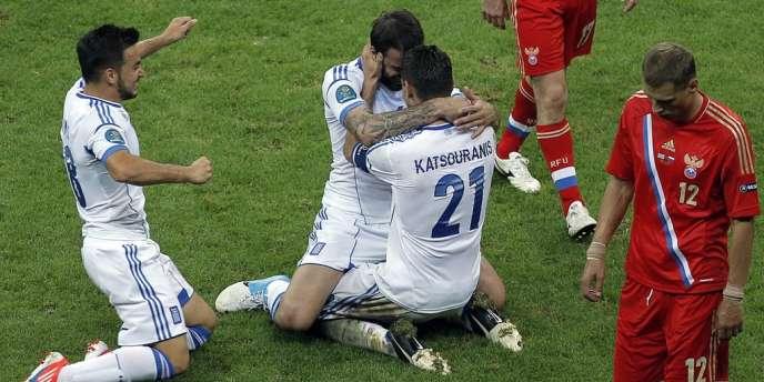 Les Grecs, surprenant vainqueur de la Russie.