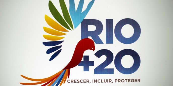 Le logo officiel du sommet Rio+20, qui s'est tenu du 20 au 22 juin à Rio de Janeiro, au Brésil.