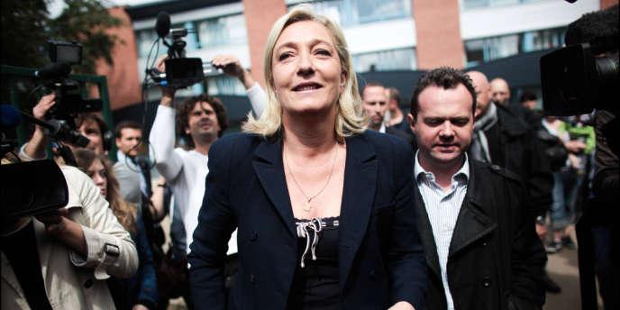 Marine Le Pen, à Hénin-Beaumont (Pas-de-Calais) le 17 juin.