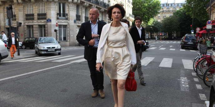 Marisol Touraine, ministre des Affaires sociales au siège du Parti Socialiste.
