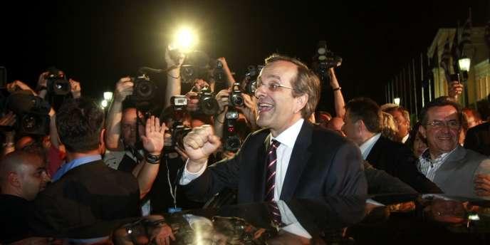 Antonis Samaras s'est félicité de la victoire de son parti, dimanche 17 juin.