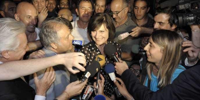 Marie-Arlette Carlotti, après son élection comme député de la 5e circonscription des Bouches-du-Rhône, le 17 juin.