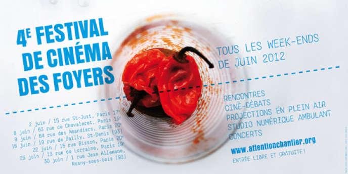 Visuel du 4e Festival de cinéma des foyers à Paris, Saint-Denis et Rosny-sous-Bois en juin 2012.
