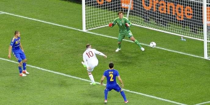 Wayne Rooney a inscrit le seul but de la rencontre face à l'Ukraine, le 19 juin à Donetsk.