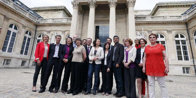 Les députés du groupe EELV à l'Assemblée nationale
