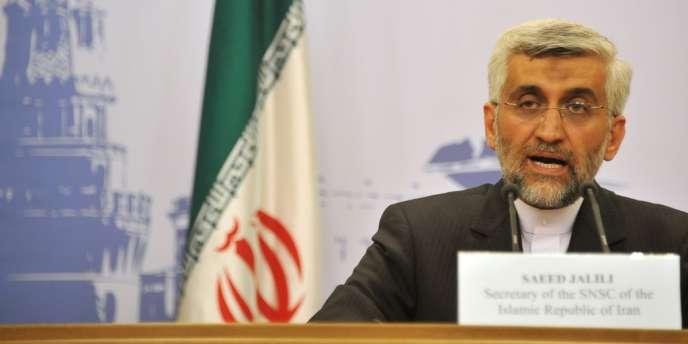 Saïd Jalili, l'émissaire de Téhéran, le 19 juin, lors des pourparlers de Moscou sur le nucléaire iranien.