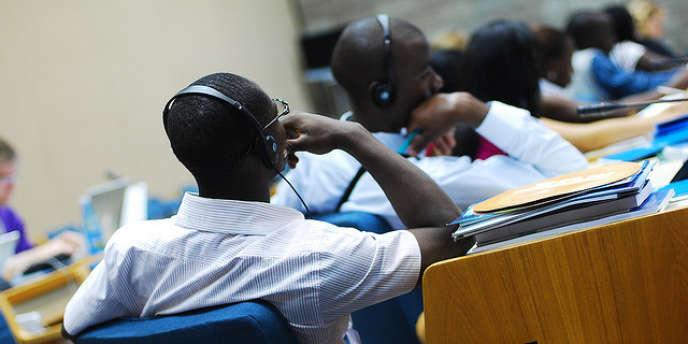 Une conférence au siège de l'Unep (le Programme des Nations Unies pour l'environnement) à Nairobi, au Kenya.