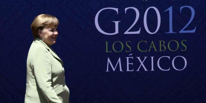 La chancelière allemande Angela Merkel a exprimé sa préférence pour l'autorité monétaire européenne - ici, le 18 juin 2012 à Los Cabos, au Mexique, lors du G20.