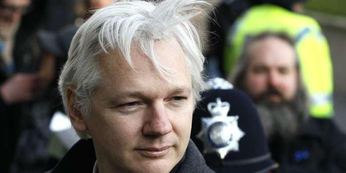 Julian Assange, à Londres, le 1er février 2012.