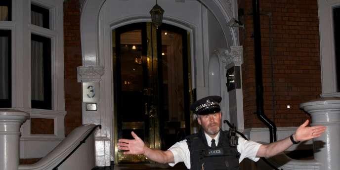 L'ambassade d'Equateur à Londres alors que Julian Assange vient d'y trouver refuge.