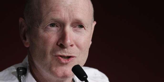 Le scénariste Paul Laverty lors de la conférence de presse du film britannique de Ken Loach,