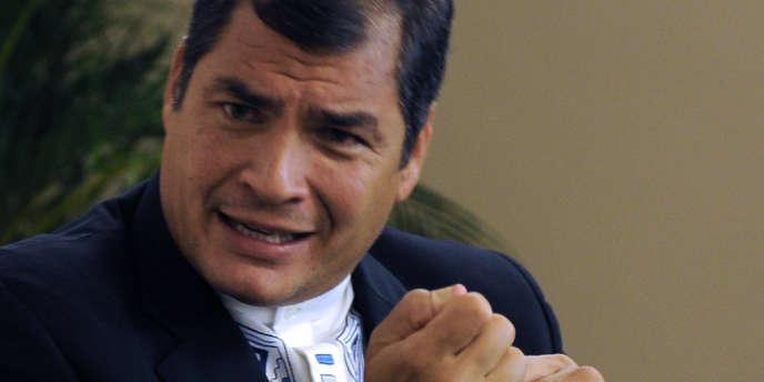 Le président équatorien, Rafael Correa, le 20 juin au sommet Rio+20 au Brésil.
