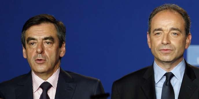 François Fillon et Jean-François Copé, le 26 mai 2012, à Paris.