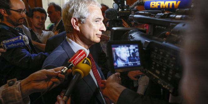 Claude Bartolone est désigné candidat au poste de président de l'Assemblée Nationale par le groupe socialiste. A l'Assemblée Nationale, jeudi 21 juin 2012