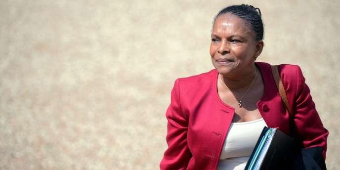 Christiane Taubira, dans la cour de l'Elysée, le 13 juin 2012.