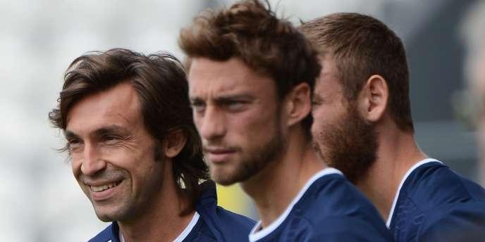 Pirlo, Machisio et De Rossi, le 15 juin.